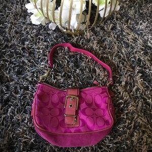 Coach pink mini purse